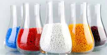 Opaque colored pellets